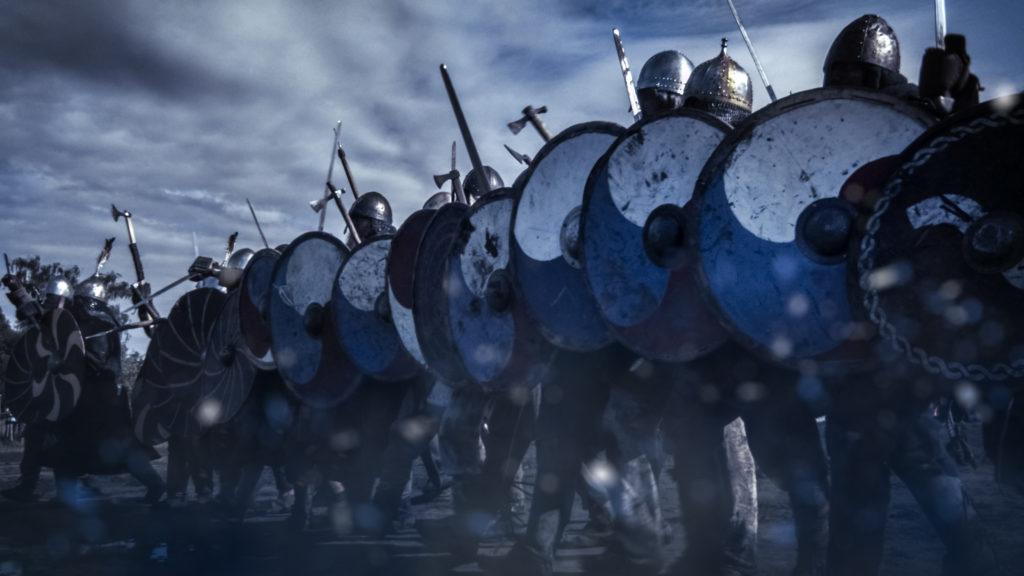 Vikings shield wall