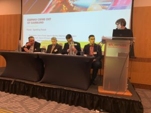 Spotting Fraud panel discussion at Keeping Crime out of Gambling