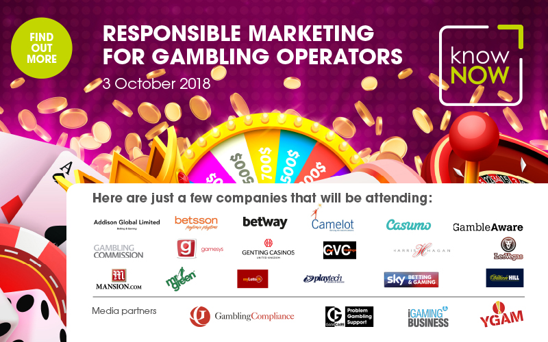 KnowNow conference Responsible Marketing for Gambling Operators