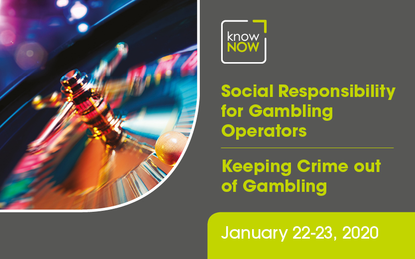 Social Responsibility for Gambling Operators and Keeping Crime out of Gambling from KnowNow Limited