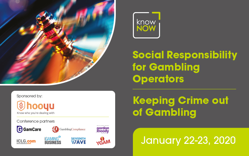 KnowNow Annual conference - Social Responsibility for Gambling Operators and Keeping Crime out of Gambling