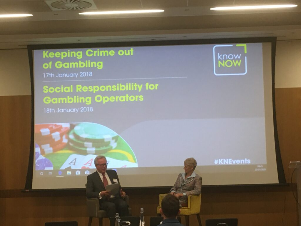 "KnowNow Conference - David Clifton, Partner, Clifton Davies Consultancy Limited conducted a ""fireside chat"" with Brigid Simmonds, Chairman of the Betting & Gaming Council."