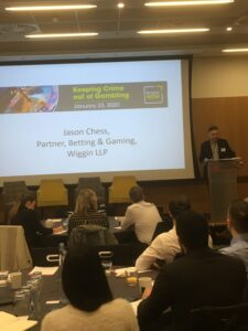 Jason Chess Wiggin LLP at KnowNow conference Keeping Crime out of Gambling