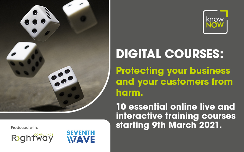 Protecting your business and your customers from harm. Online training from KnowNow Limited