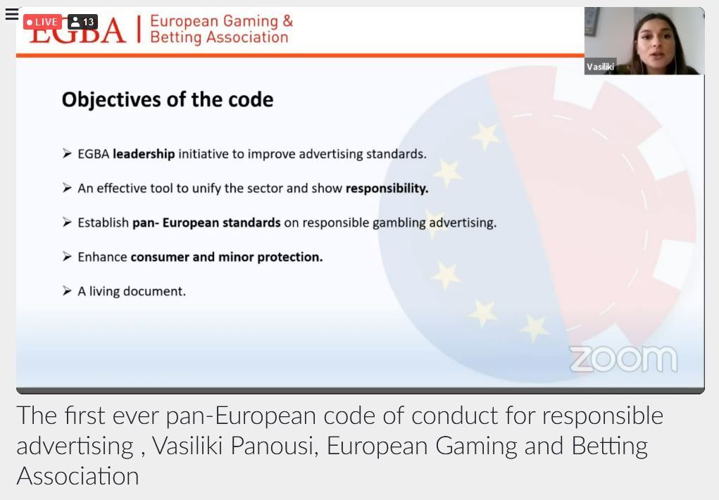 The EGBA on the first ever pan-European code of conduct for responsible advertising.